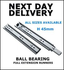 BALL BEARING RUNNER, DRAWER RUNNERS, FULL EXTENSION, 1 PAIR, 250 -  600 mm PKO