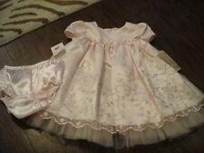 NWT NEW BOUTIQUE BONNIE BABY 12M 12 MONTHS PINK FLORAL DRESS GORGEOUS