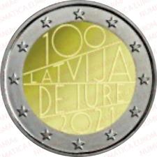 2 EURO LETTONIA 2021 - REPUBBLICA FDC DA ROTOLINO - MONETA UFFICIALE