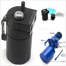 New 1 set 300ML Aluminum Alloy Breather Oil Catch Can With Filter Reservoir Tank