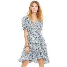 Denim and Supply by Ralph Lauren Blue Floral Gauze Wrap Dress 0 XS EUC