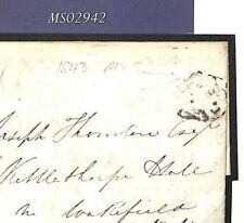 MS2942* GB UNUSUAL MALTESE CROSS *Folkestone*MX Kent Unpaid 1843 Cover Wakefield