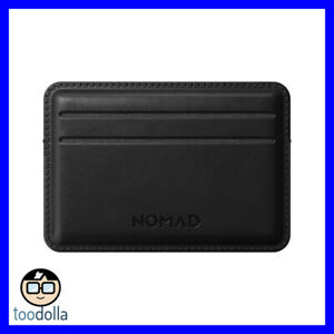 NOMAD -  Genuine Horween Leather Card Wallet (up to ten cards), Black
