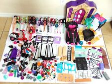 Ultimate Lot of Monster High Dolls, Shoes, Accessories High School, Car, Playset