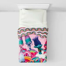 NEW DreamWorks Trolls Peace & Rainbows Microfiber Comforter - Twin