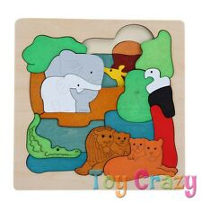 Wooden Multi Layer Jigsaw Puzzle Jungle African Animal Theme