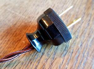 Antique Replica Electrical Plug - Long neck decagon design polarized cord rewire