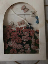 1970's Robert Jacobson Designed - Glass Suncatcher - Butterfly Garden