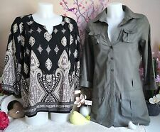 "Lot vêtements occasion femme - Blouse, Chemisier "" Jennyfer "" - T : 40 / 42"