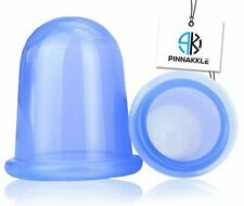 Anti Cellulite Vacuum Cup Set [2-pack] - Silicone Cupping Therapy Set (1 L, 1 M)