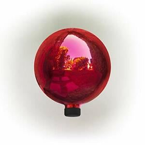 Alpine Corporation GLB292RD Glass Gazing Globe Outdoor Festive Holiday Décor ...