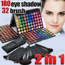 Eye shadow 180 color Eyeshadow palette makeup + 32 Brush Set Kit Brushes PU Case