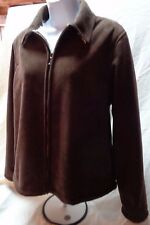 WOMENS STRAIGHT DOWN CLOTHING CO. SZ MED POLY BROWN SHORT JACKET/FAUX FUR LINING