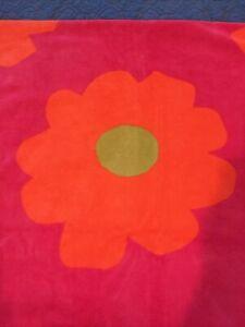 "Garnet Hill Beach Bath Towel Red/Orange/Lime 33"" x 64"""