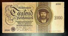 1924 Germany 1000 Reichsmark Banknote - 1000000000000000 Mark replacement