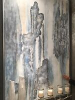 """HUGE XXL 74"""" DESIGNER HAND PAINTED CANVAS MODERN ART ABSTRACT WALL PAINTING"""