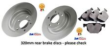 BMW E60 E61 5 SERIES 520D 525D 530D 535D REAR BRAKE DISCS AND PADS SET