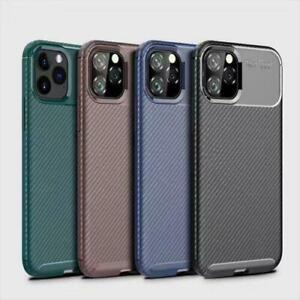 Case for iPhone SE (2020) ShockProof Phone Cover Carbon Fibre Element Armor