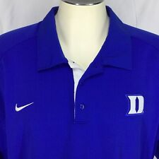 Mens 3XL Golf Shirt Nike Duke Blue Devils 76 Polo Dri Fit Color Blue White