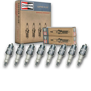 8 pc Champion 22 Copper Plus Spark Plugs for 18F42 18RF42 4339427 7951 re