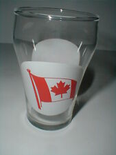 Dominion Glass Canadian Red Maple Leaf Flag Canada Souvenir Tumbler