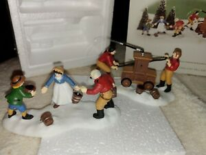 Department 56, New England Village, VOLUNTEER FIREFIGHTERS, 56635 Christmas