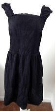 Deed Womens Sexy Short Sleeve Feminine Dress Black Ribbed Texture Medium R13