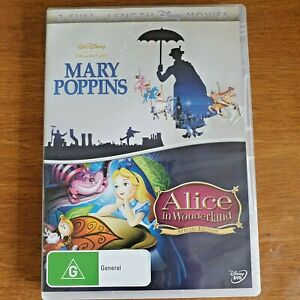 Mary Poppins  / Alice In Wonderland Special Edition 2 DVD Set - R4 FREE POST