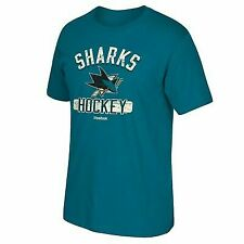 San Jose Sharks Reebok HISTORIC Arch Distressed Team Graphic Teal T-shirt Men's