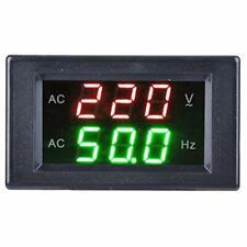 Voltage Frequency Meter Generator Dual Display Led Digital Ac Voltmeter Frequ