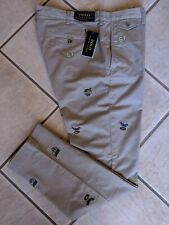 Polo Ralph Lauren Chino Pants 36 x 32 Embroidered Stretch Slim Khaki NWT $125