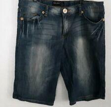 Baby Phat JR Size 15 Bermuda Shorts Blue Denim Acid Wash 4 Pocket Straight Leg