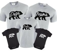 Papa Bear,Mama Bear Baby Bear T-Shirt Set Gift Birthday Tops Present Bear Family