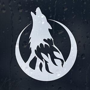 Wolf Moon On fire Car Decal Vinyl Sticker