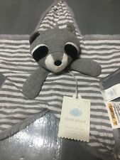New listing Cloud Island Racoon Security Blanket Gray White Stripes Star