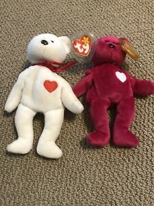 Valentino Valentina TY Beanie Baby LOT MINT WITH MINT TAGS Pair Together Couple