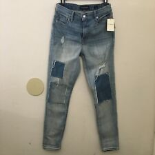 Lucky Brand High Rise Bridgette Patched Skinny Light Jeans Women's Size 28