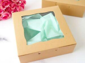 6x Display Cookies Box 15cm Wedding Favour Baby Shower Cake Macaron Boxes