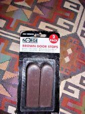 Rubber Brown Door Stop 2 packs 4 total Norge Brand Office Classroom
