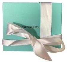 """TIFFANY & Co 4"""" Woven Square Clear Crystal Bowl / Basket / Candy Dish New in Box"""
