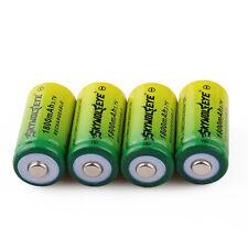 4pcs SKYWOLFEYE 1800mAh 16340 CR123A 3.7V Rechargeable Li-Ion Battery Batteries