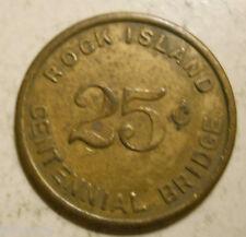 Rock Island Centennial Bridge (Illinois) transit token - Il760P