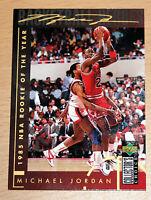 Michael Jordan 1994 Collector Choice 1985 NBA ROOKIE OF YEAR GOLD SIGNATURE CARD