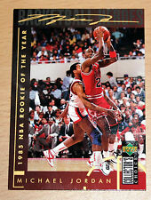 Michael Jordan 1994 Collector Choice 1985 NBA ROOKIE OF YEAR GOLD SIGNATURE CARD