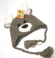 Deer Moose Baby Toddler Knit Hat Cap Antlers