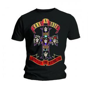 Guns N Roses T Shirt Appetite for Destruction Official Black Mens Tee Rock Slash