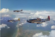 """""""Almost Home"""" Jim Laurier Limited Edition Print - WWII 352nd Fighter Group USAAF"""