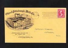 Ohio & Pittsburgh Milk Co ILLUSTRATED Pittsburg PA 1901 Jefferson Creamery OH ZU