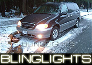 XENON HALOGEN FOG LAMPS Light Kit foglamps foglights for 2001-2005 KIA SEDONA