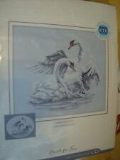 Swan Fidelity Cross Stitch Kit 40x35 cm (15.75x13.75 in) Two Swans In Water